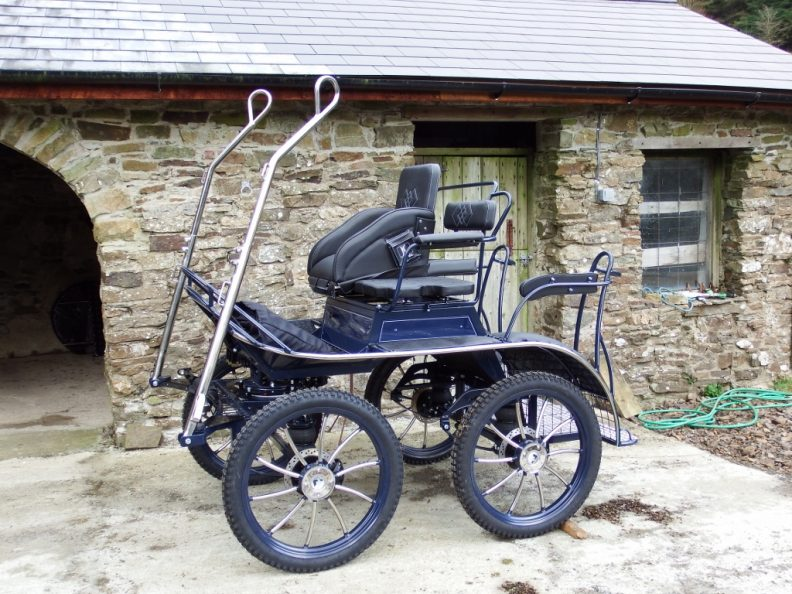 SAVE £655 Sportive Horse Exercise and Pleasure Driving carriage. With Hard Tyres and Pneumatic Tyres. Ex Demo.  Suit 15 to 17hh. £4900 plus VAT